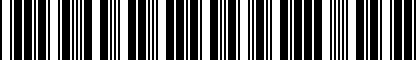 Barcode for 8J0051434